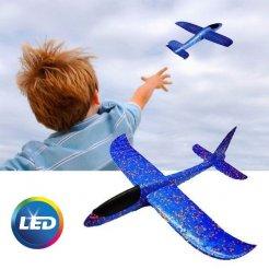 Svítící LED házecí letadlo 47x49 cm