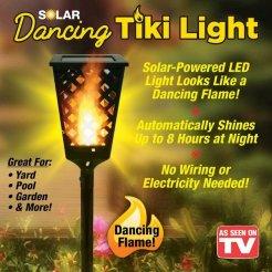 Napelemes kerti lámpa égő láng utánzata 95x12cm