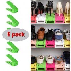 Organizér na topánky zelený 5 ks