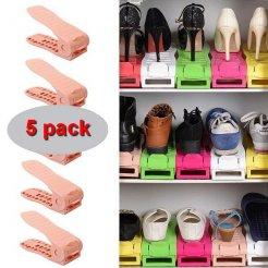 Organizér na topánky ružový 5 ks