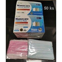 Hygienické rúška na ústa NanoCare detské 50 ks