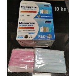 Hygienické rúška na ústa NanoCare detské 10 ks