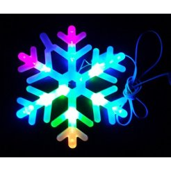 Vianočná LED dekorácia Vločka 24 cm