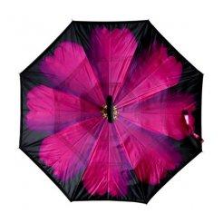 Kifordított esernyő gerbera motívummal