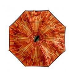 Kifordított esernyő Narancssárga virág motívummmal