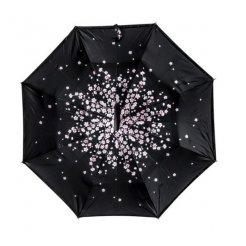 Kifordított esernyő Apró virág motívummmal