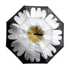 Kifordított esernyő Fehér gerbera motívummal