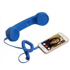 Retro slúchadlo pre mobil modré
