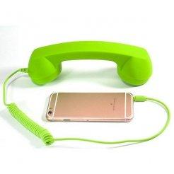 Retro slúchadlo pre mobil zelené