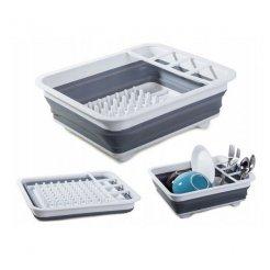 Silikonový skládací odkapávač nádobí