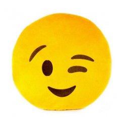 Plyšový vankúš Emoji 30 cm flirtujúci