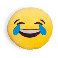 Plyšový vankúš Emoji 30 cm slzy