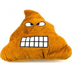 Plüsspárna Emoji 30 cm-es dühös kaki emoji Poo