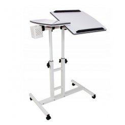 Polohovateľný stolík pod notebook biely