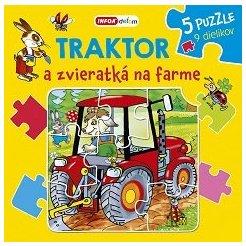 Knížkové puzzle - Traktor a zvieratká na farme (SK vydanie)