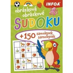 Obrázková/obrázkové sudoku + 150 samolepek/150 samolepiek – zelený sešit/zelený zošit