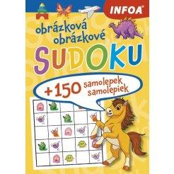 Obrázková/obrázkové sudoku + 150 samolepek/150 samolepiek – žlutý sešit/žľtý zošit