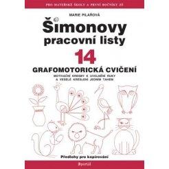 Šimonovy pracovní listy 14 - Grafomotorická cvičení, 2. vydanie A4