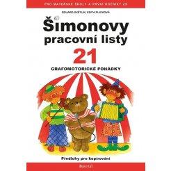 Šimonovy pracovní listy 21 - Grafomotorické pohádky A4