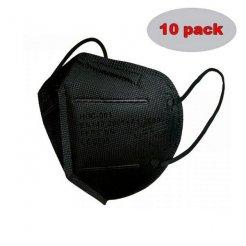Respirátor HO-Comfort FFP2 čierny 10 ks