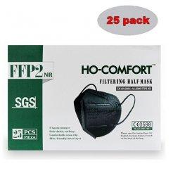 HO-Comfort FFP2 fekete reszpirátor, 25 db
