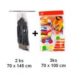 Vákuové pytle 3 ks 70x100cm + 2 ks závěsné 70x145 cm