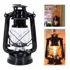 Petrolejová kovová lampa 24 cm color
