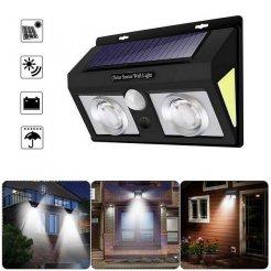 Solární venkovní 62 LED COB osvětlení s pohybovým senzorem