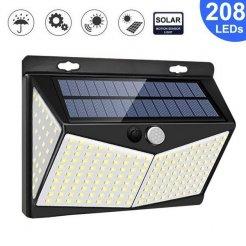 Solární venkovní 208 LED SMD osvětlení s pohybovým senzorem