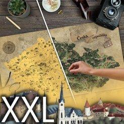 Stieracia mapa Česka DELUXE XXL zlatá