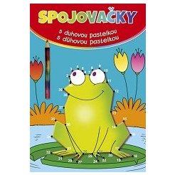 Spojovačky s duhovou pastelkou/ s dúhovou pastelkou - žába