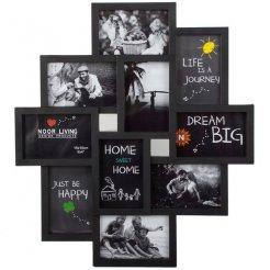 Fotorámček 49x54 cm - 10 fotografií čierny