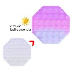 Pop it Antistresová hračka Osemuholník meniaca farbu