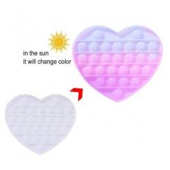 Pop it Antistresová hračka Srdce meniaca farbu