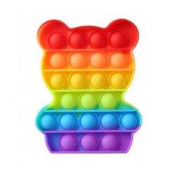 Pop It Rainbow antistresová hračka Medvedík