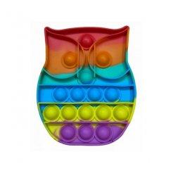 Pop It Rainbow antistresová hračka Sova