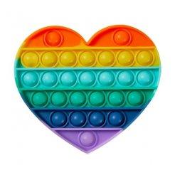 Pop It Rainbow antistresová hračka Srdce