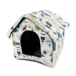 Domček pre psa, mačku 38x35x33 cm biely