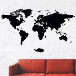 Drevená mapa na stenu 130 x 75 cm