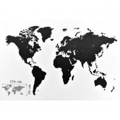 Luxusná drevená mapa na stenu XL 156 x 90 cm