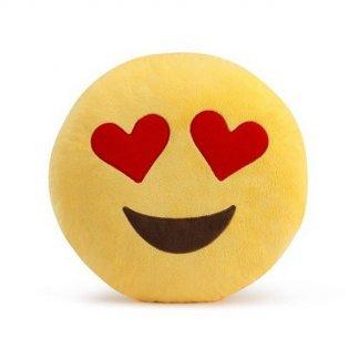 Plyšový polštář Emoji 30 cm zamilovaný