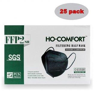 Respirátor HO-Comfort FFP2 černý 25 ks