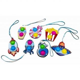 Antistresová hračka Pop it přívěsek na klíče MIX barev