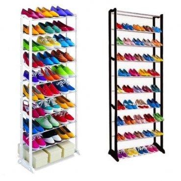 Skladací botník na 30 párov topánok