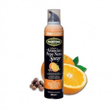 Sprayleggero Extra panenský olivový olej v spreji Pomaranč a čierne korenie