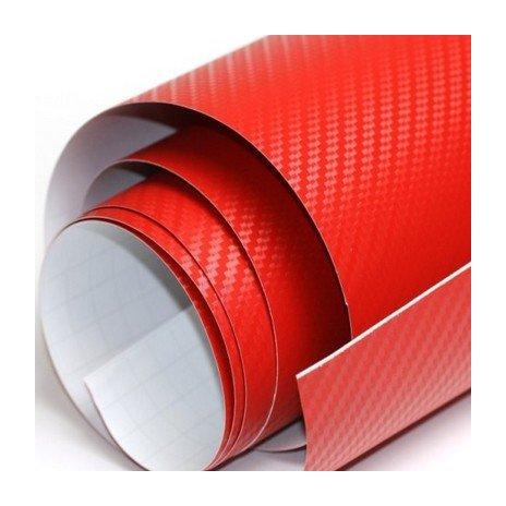 3D karbonová folie červená (š.1,27m)