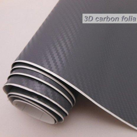 3D karbónová folie šedá (š.1,27m)