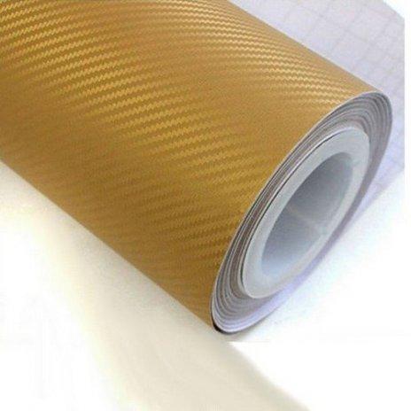 3D karbónová folia zlatá (š.1,27m)