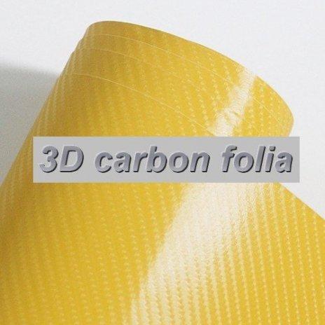 3D karbonová folie žlutá (š.1,27m)