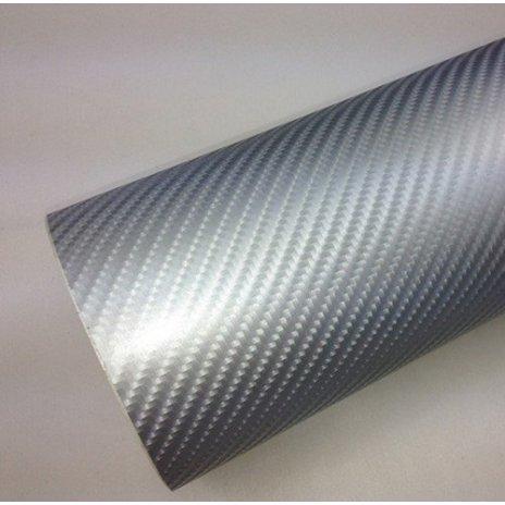 4D karbónová folia strieborná (š.1,52m)